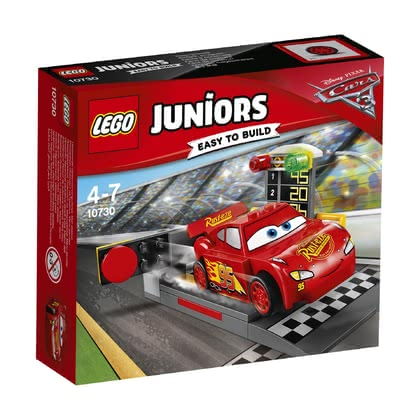 LEGO Juniors Lightning McQueen Speed Launcher -  * Together with the popular character Lightning McQueen from the Disney Pixar Cars 3 films, your little racer waits for the next exciting race to begin.
