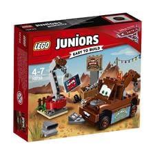 LEGO Juniors Mater's Junkyard -  * The main duty at Mater's junkyard is to have fun! The cheerful tow truck from Disney Pixar Cars 3 is always ready for a good joke.