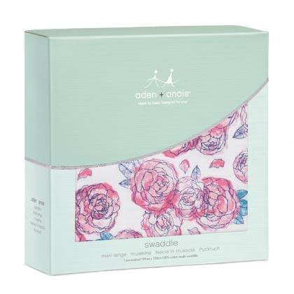 aden+anais Classic Swaddles, Single Pack spring peony - large image
