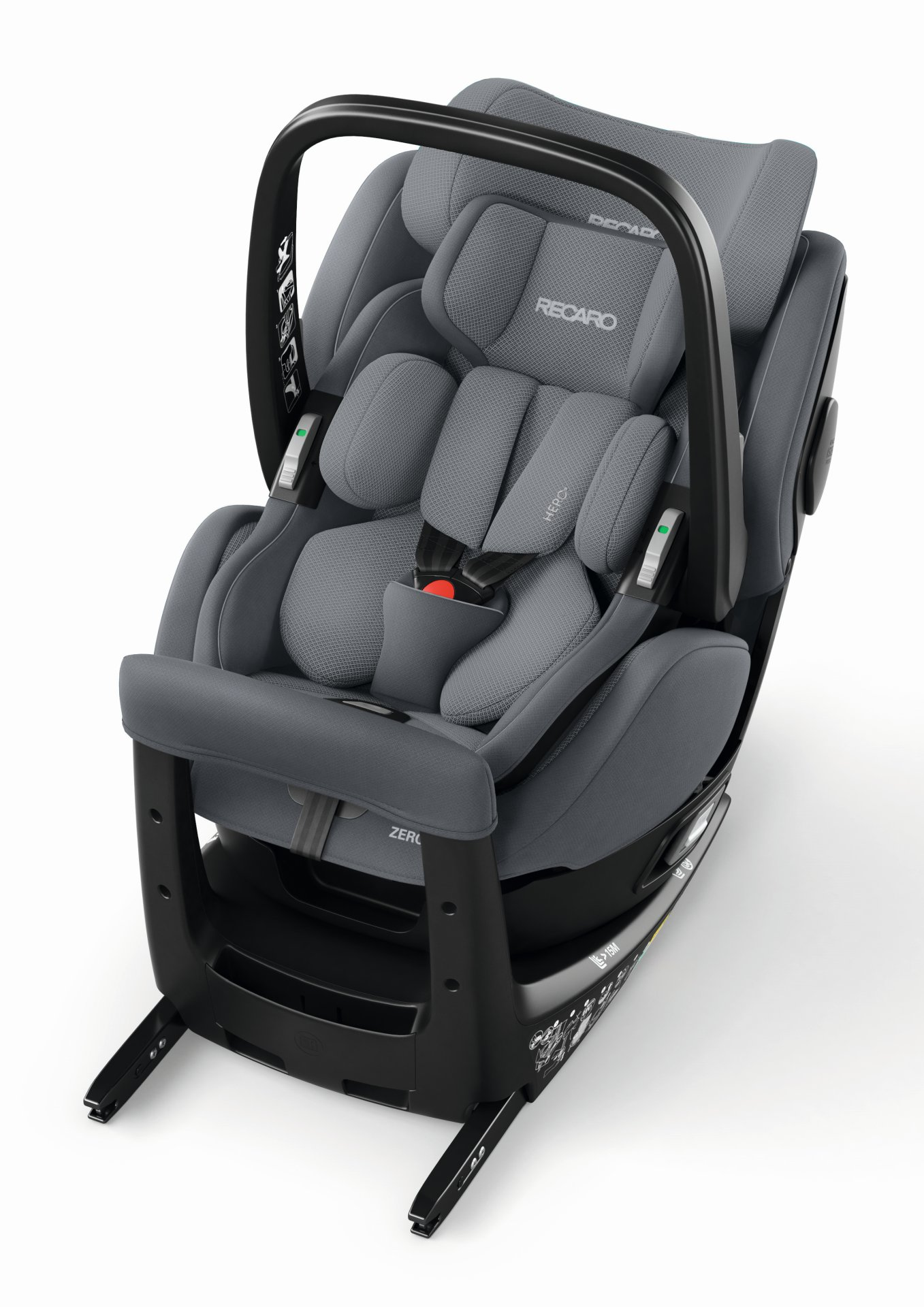 recaro zero 1 elite i size 2018 aluminium grey buy at. Black Bedroom Furniture Sets. Home Design Ideas