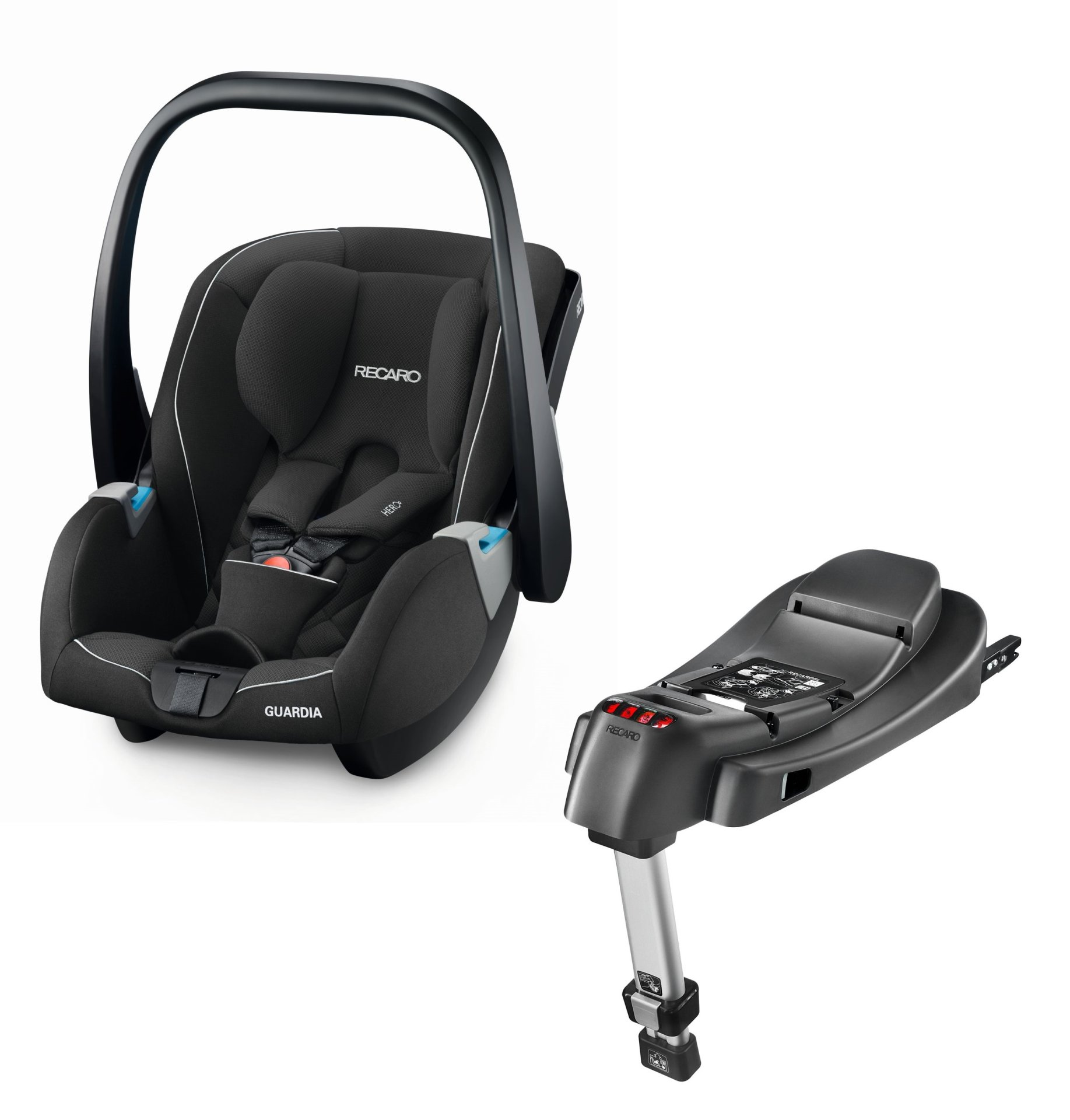 Recaro Infant Car Seat Guardia Including SmartClick Base Performance Black 2018