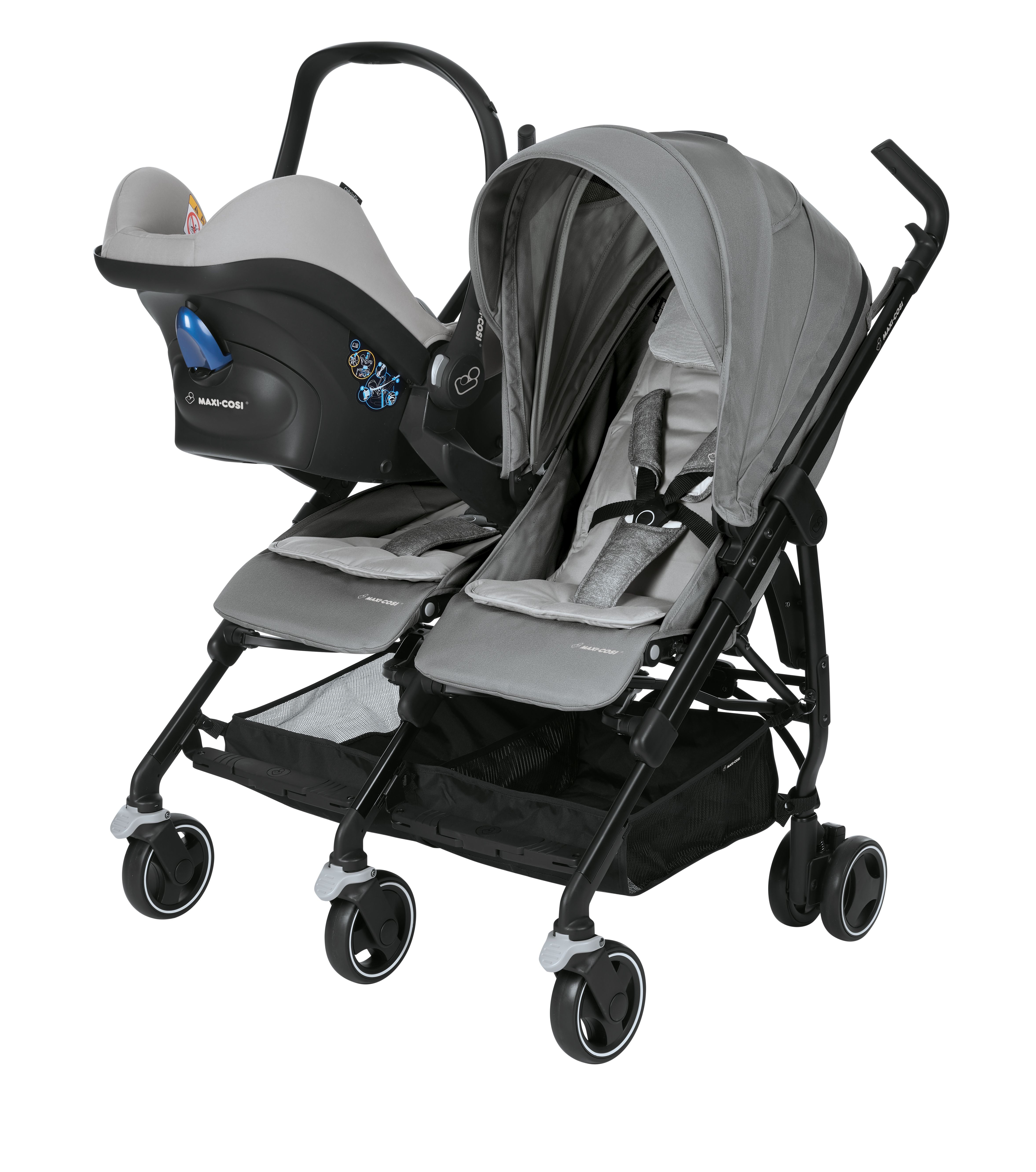 maxi cosi buggy dana for2 2018 nomad grey buy at. Black Bedroom Furniture Sets. Home Design Ideas