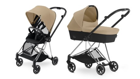 Cybex Platinum Buggy MIOS Complete Set including Colour Pack and Carrycot Cashmere Beige_beige 2018 - large image