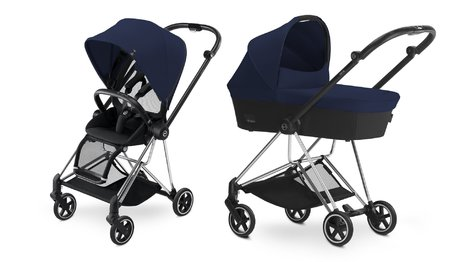 Cybex Platinum Buggy MIOS Complete Set including Colour Pack and Carrycot Midnight Blue_navy blue 2018 - large image