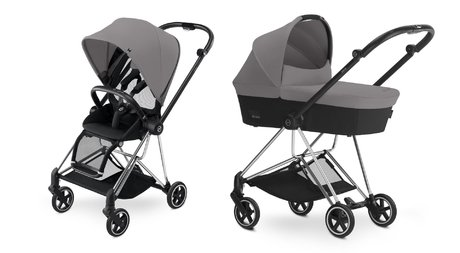 Cybex Platinum Buggy MIOS Complete Set including Colour Pack and Carrycot Manhattan Grey_mid grey 2018 - large image