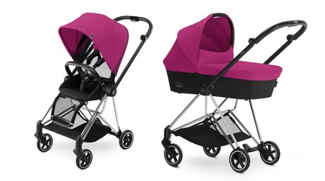 Cybex Platinum Buggy MIOS Complete Set including Colour Pack and Carrycot Mystic Pink_purple 2017 - large image