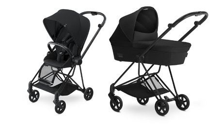 Cybex Platinum Buggy MIOS Complete Set including Colour Pack and Carrycot Stardust Black_black 2018 - large image