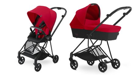 Cybex Platinum Buggy MIOS Complete Set including Colour Pack and Carrycot Infra Red_red 2017 - large image