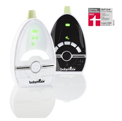 "Babymoov Expert Care Baby Monitor -  * Babymoov's Expert Care is a low radiation baby monitor with a range of up to 1000m. It features the Babymoov ""Digital Green Technology"" that combines perfect audio quality and digital technology with low radiation levels."