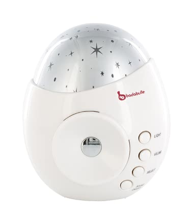 "Badabulle Night Light ""My Music & Light"" -  * Badabulle's night light ""My Music & Light"" plays soft music and helps your child fall asleep peacefully while he or she is swimming in an ocean of beautiful stars."