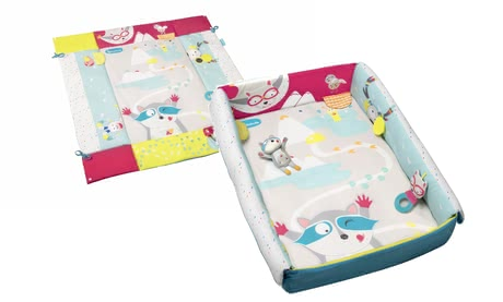 Badabulle Crawling Blanket 2 in 1 -  * Badabulle's amazing 2 in 1 crawling blanket can be used as a cosy mat inside and outside your little one's playpen or else as a snug cot bumper for your child's cot. /ul>