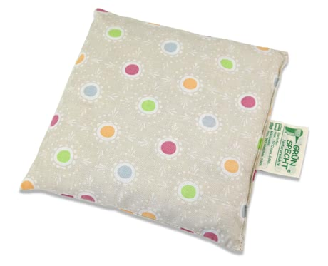 Grünspecht Cherry Pit Pillow, 16 x 16 cm -  * The Cherry Pit Pillow by Grünspecht is suitable for treating babies and toddlers with heat and cold.