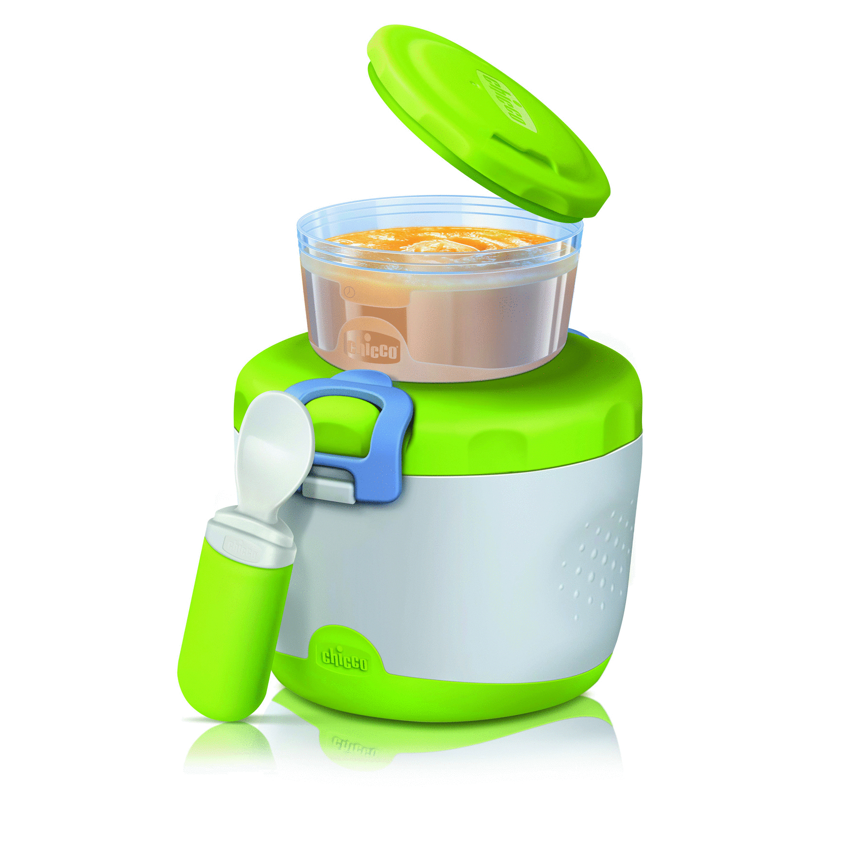 Chicco Easy Meal Insulating Container For Baby Food System 6m Buy Soft Silicone Spoon Green Up