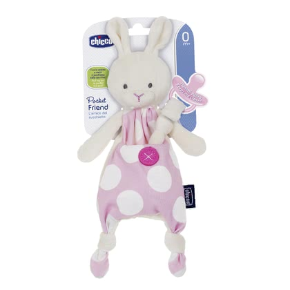 Chicco Security Blanket with Soother Holder Pocket Friend -  * From now on, your little one's soother is always easy to reach and stays clean wherever you go. The soother holder Pocket Friend will be your child's new best friend.