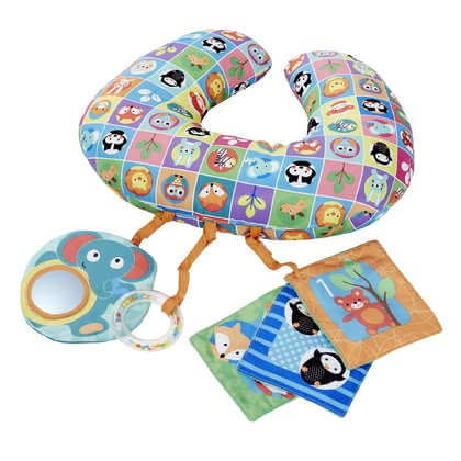 Chicco Playing Cushion -  * Chicco's Playing Cushion is perfect for playing with it in prone position. This position is recommended by paediatricians, since it is ideal for strengthening your little one's back muscles.