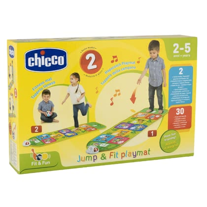 Chicco Fit & Fun Electronic Hopscotch Court -  * With Chicco's Fit & Fun Electronic Hopscotch Court the traditional children's game hopscotch comes in a new and exciting design that will encourage little sportsmen to play with lights and sounds.