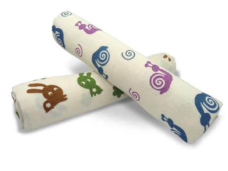 Grünspecht Organic Gauze Nappies -  * The Grünspecht Organic Gauze Nappies are versatile helpers that ease everyday life with a baby. As indispensable companions they can be used as fast-drying and absorbing burp cloths, paddings or light blankets.