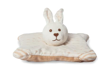 "Grünspecht Organic Flaxseed Pillow ""Rabbit"" -  * A soft and cosy companion – this cute little cuddly rabbit is made of 100% GOTS-certified cotton and filled with organic flaxseed."
