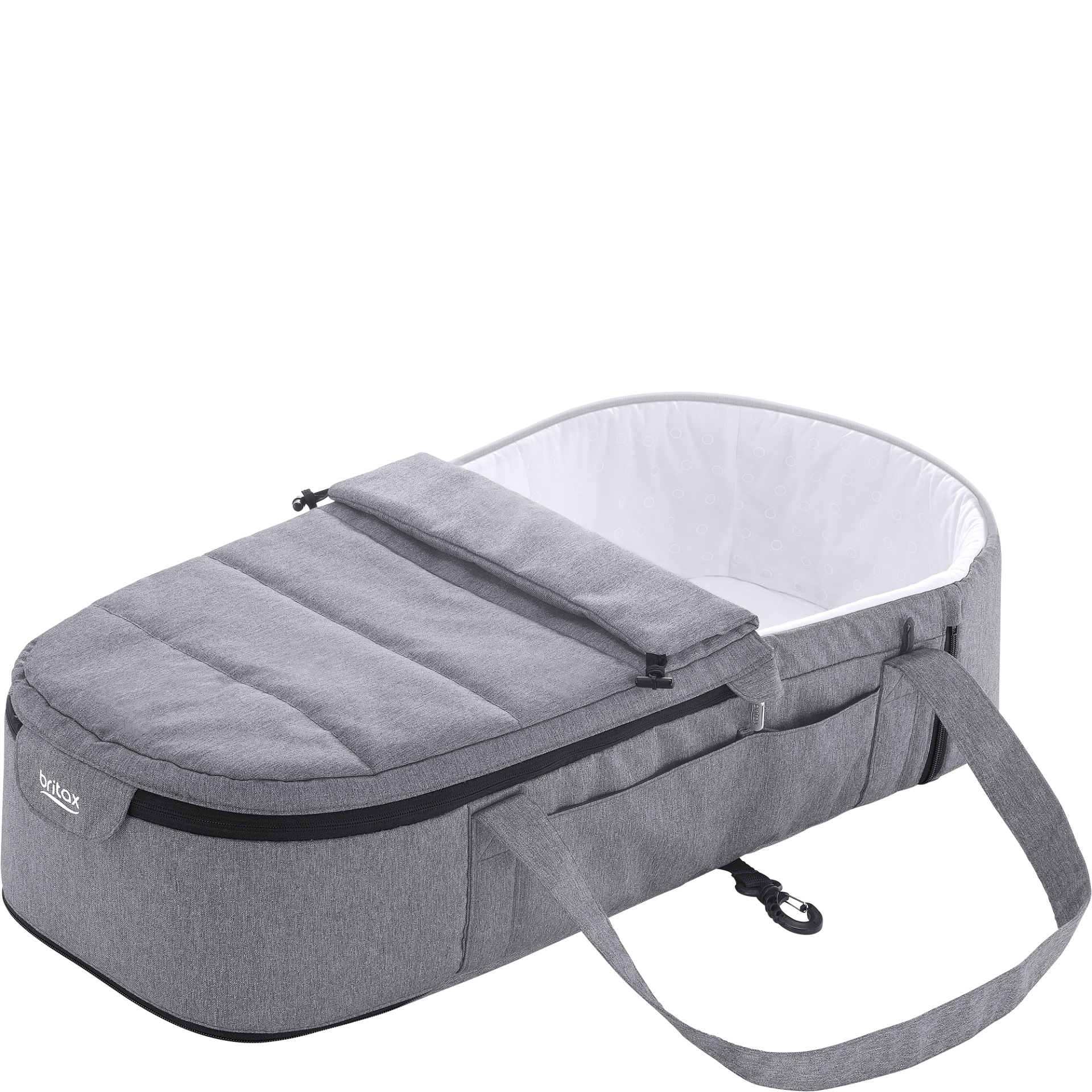 best britax rmer go big soft carrycot grey melange large image with big bag melange with big bag. Black Bedroom Furniture Sets. Home Design Ideas