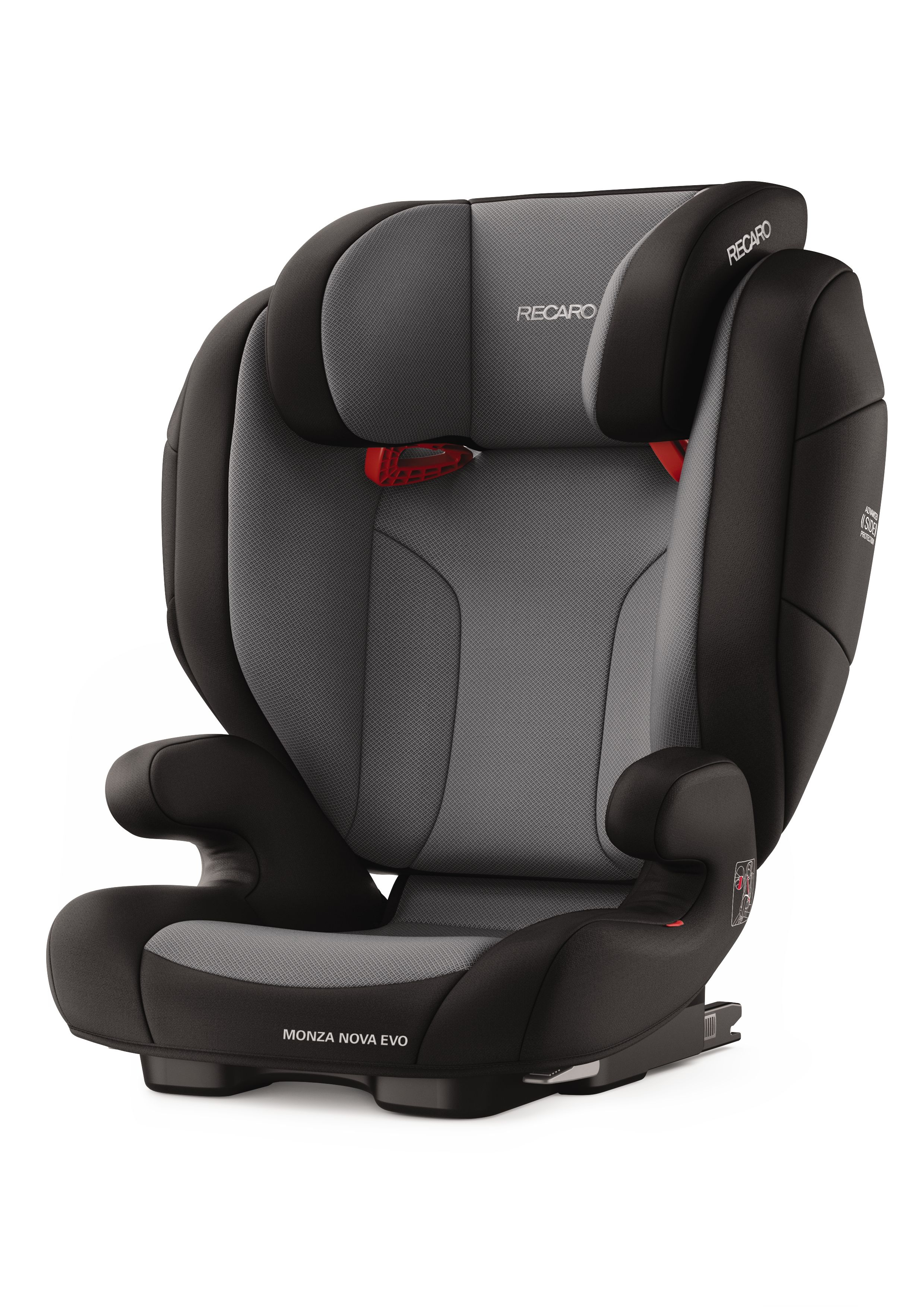 Carbon Black Recaro Monza Nova EVO Seatfix Group 2//3 Child Kids Car Seat