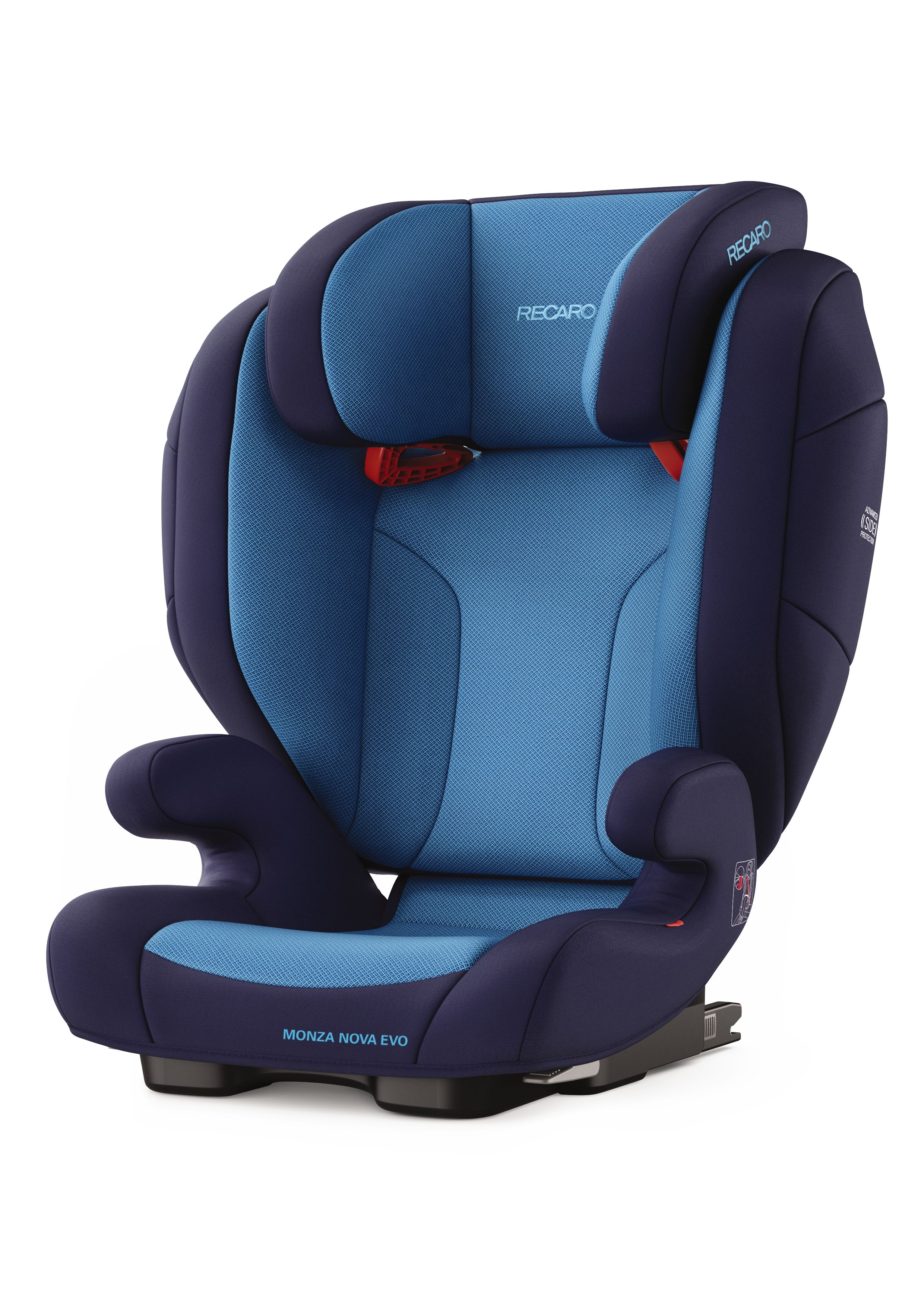 recaro child car seat monza nova evo seatfix 2018 xenon blue buy at kidsroom car seats. Black Bedroom Furniture Sets. Home Design Ideas
