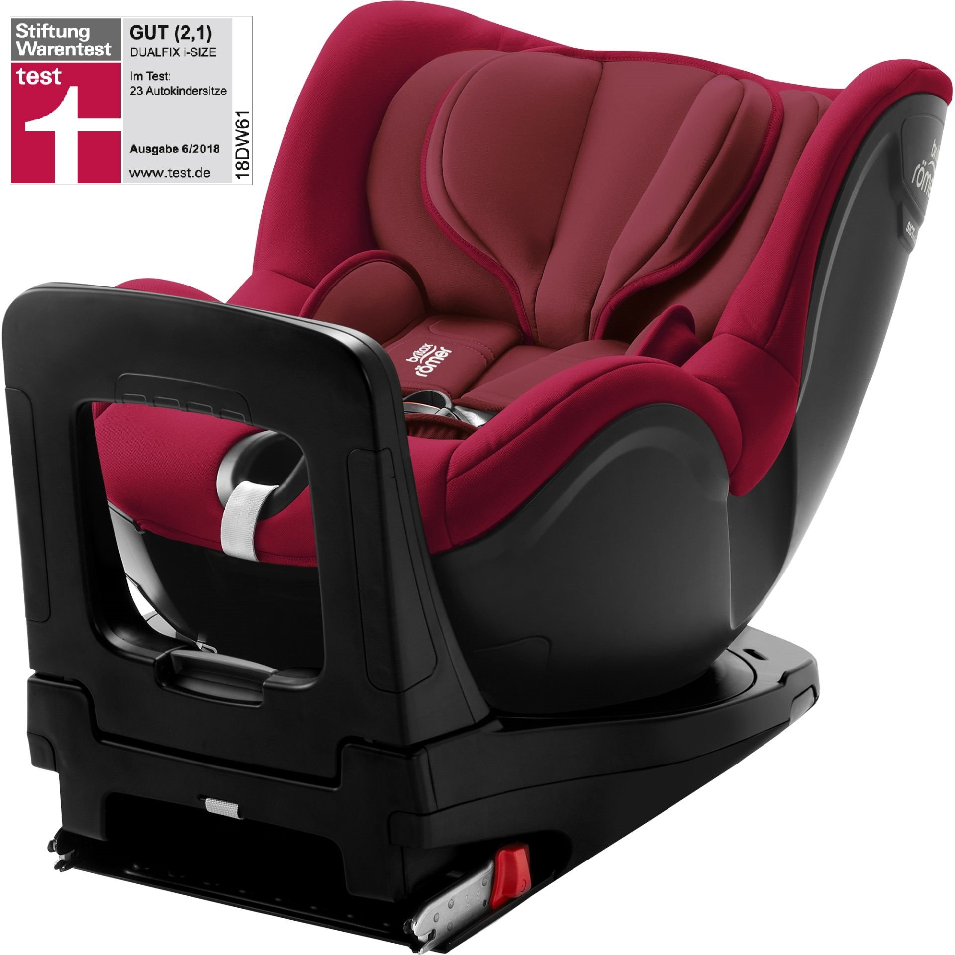 britax r mer child car seat dualfix i size 2018 flame red buy at kidsroom car seats. Black Bedroom Furniture Sets. Home Design Ideas