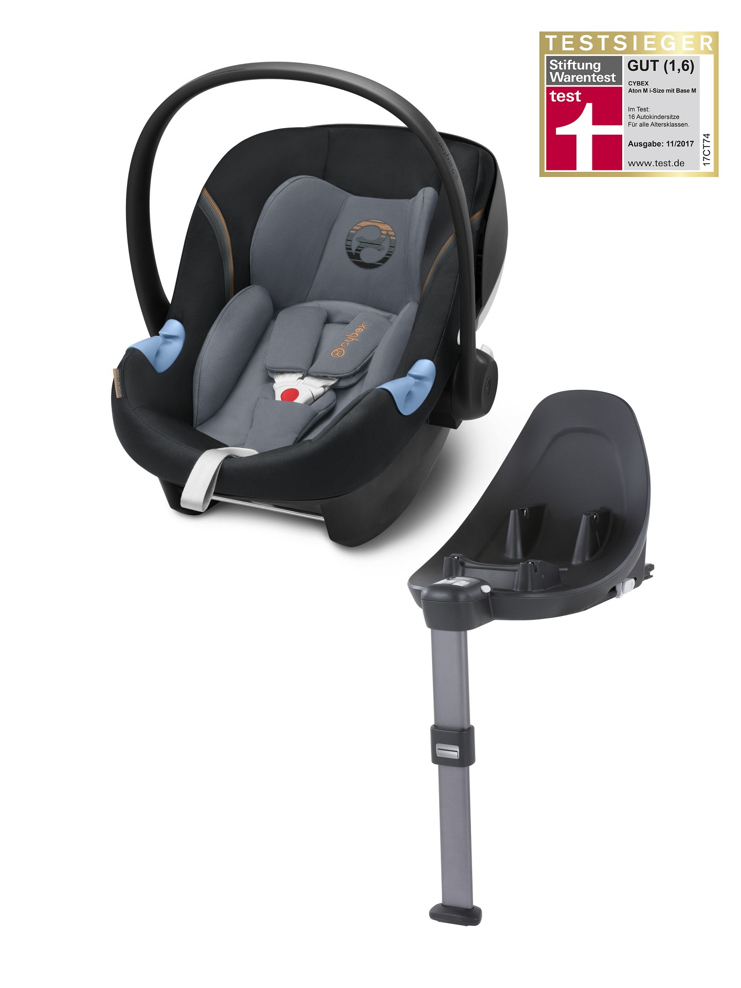 cybex infant car seat aton m i size including base m 2018 pepper black dark grey buy at. Black Bedroom Furniture Sets. Home Design Ideas