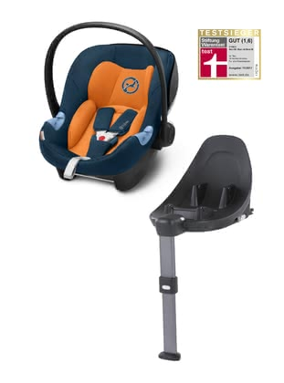 Cybex Infant Car Seat Aton M i-Size including Base M -  * This amazing set consists of the Cybex infant car sear Aton M i-Size and the Base M and conforms to the latest European standards for child safety and carries your child from 45 to 87 cm safely in a rear-facing mode.