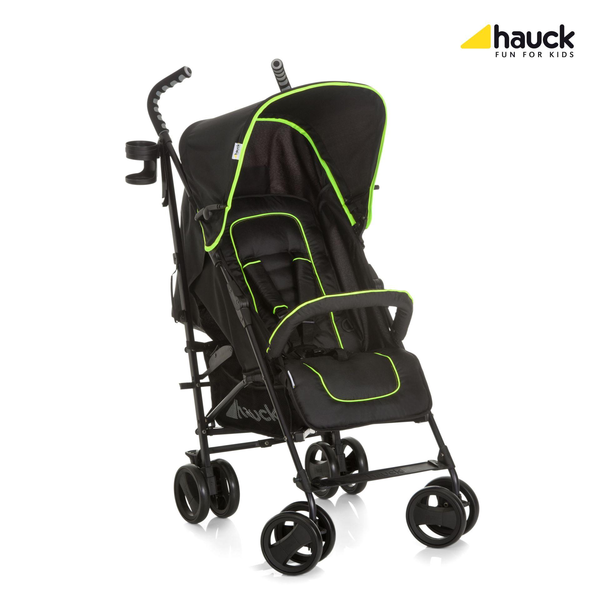Hauck Buggy Speed Plus S CaviarNeon Yellow