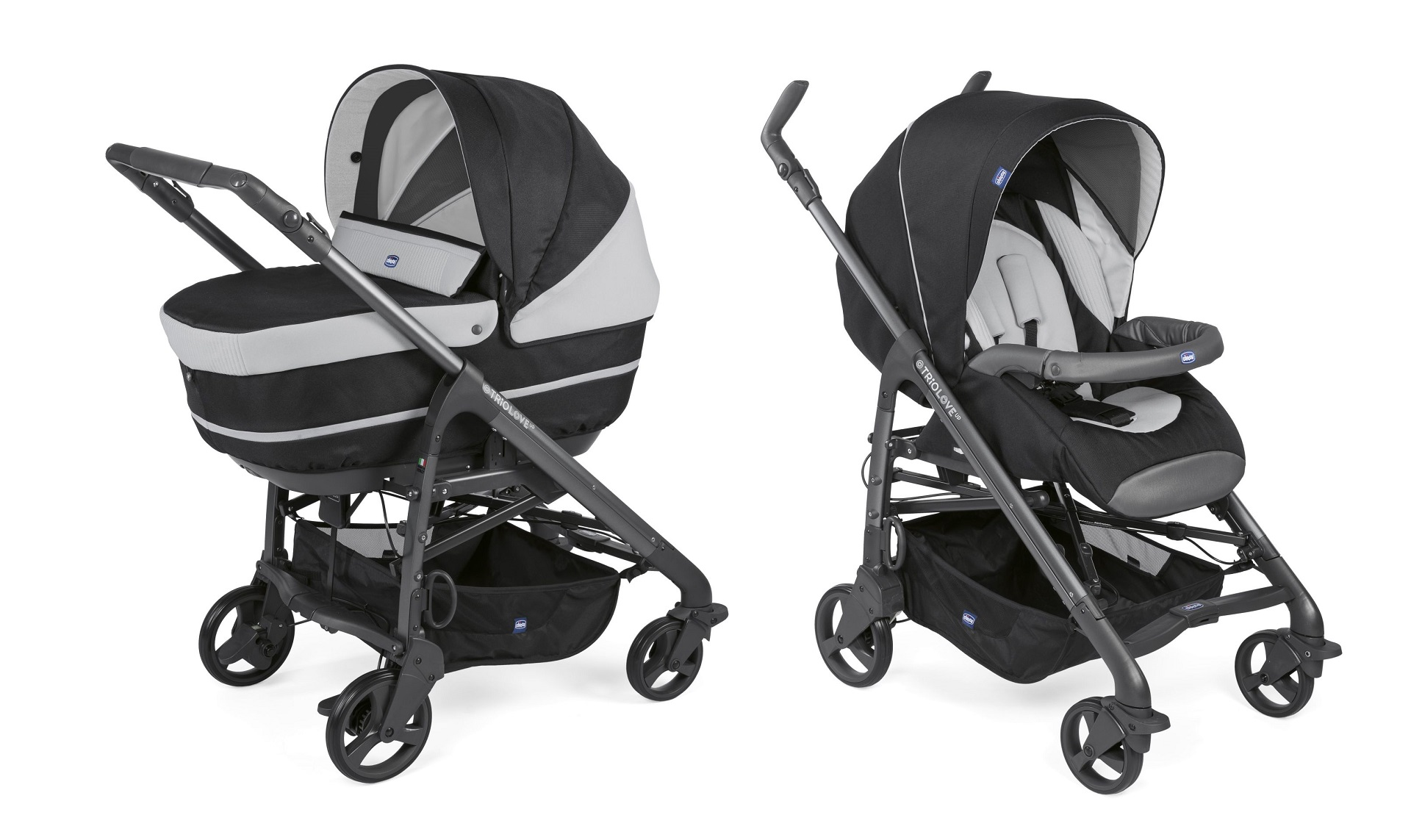 chicco kinderwagen duo love up 2018 jet black buy at kidsroom strollers. Black Bedroom Furniture Sets. Home Design Ideas