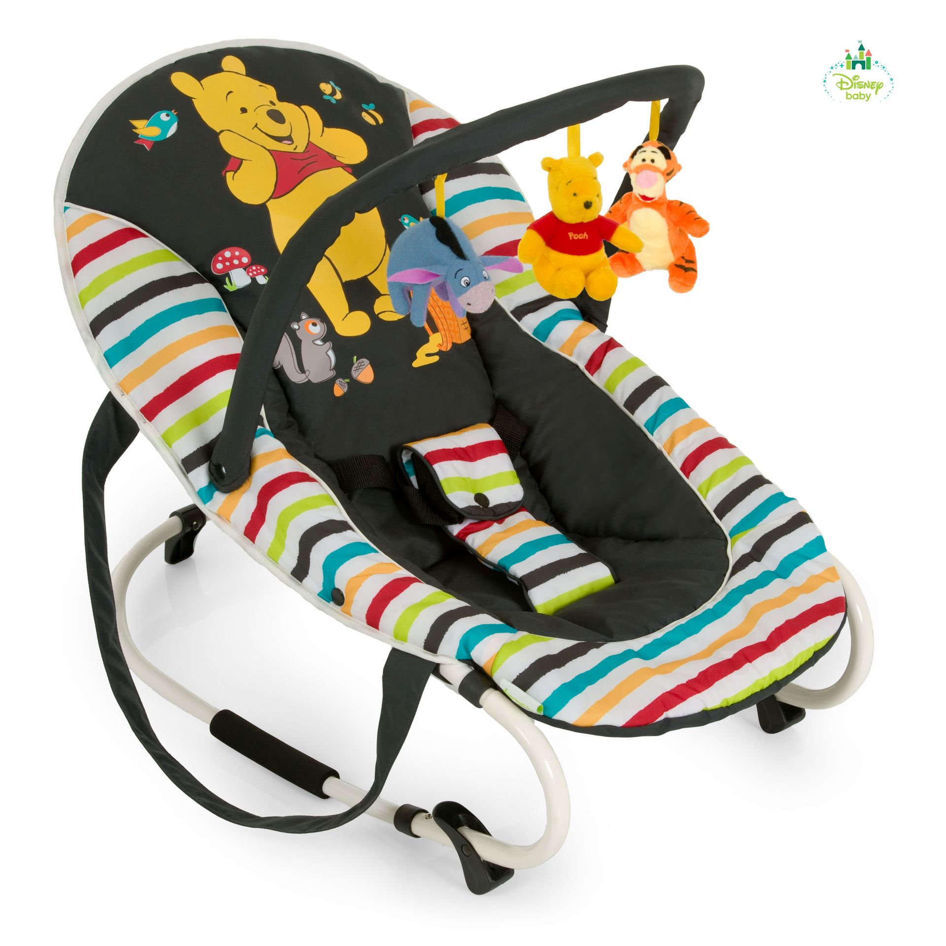 Hauck Baby Bouncer Bungee Deluxe Winnie The Pooh Design Tidy Time 2018