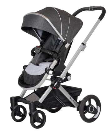 Hartan Pram Vip GTX -  * A combination of a plain but elegant aluminium chassis and the new, super-light GTX seat unit contributes to the VIP GTX' low deadweight. Due to its innovative fold mechanism you can fold the VIP GTX easily and in no time at all.