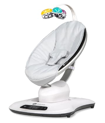 4moms 3D Baby Bouncer mamaRoo 4.0 -  * mamaRoo 4.0 imitates your movements! This adorable baby bouncer comes in a new design and with an improved control panel.