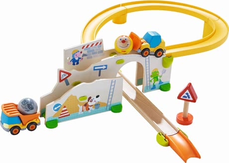 "HABA Kullerbü – Ball Track ""At the Construction Site"" -  lThe stable Kullerbü ball track ""On the construction site"" by HABA provides many great game effects."