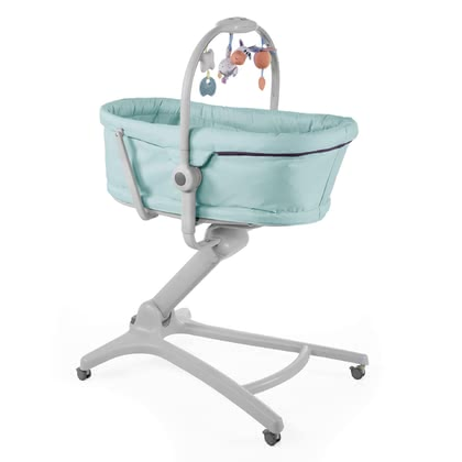 Chicco Baby Hug 4 in 1 - * The Baby Hug 4in1 can be used as a bassinet or recliner for new-borns and babies at the age of 0 to 6 months. After that, you can transform it easily into a highchair for feeding your child or else us it as your little one's first chair in which he can read or relax. These last two functions are suitable for children from 6 to 36 months of age.
