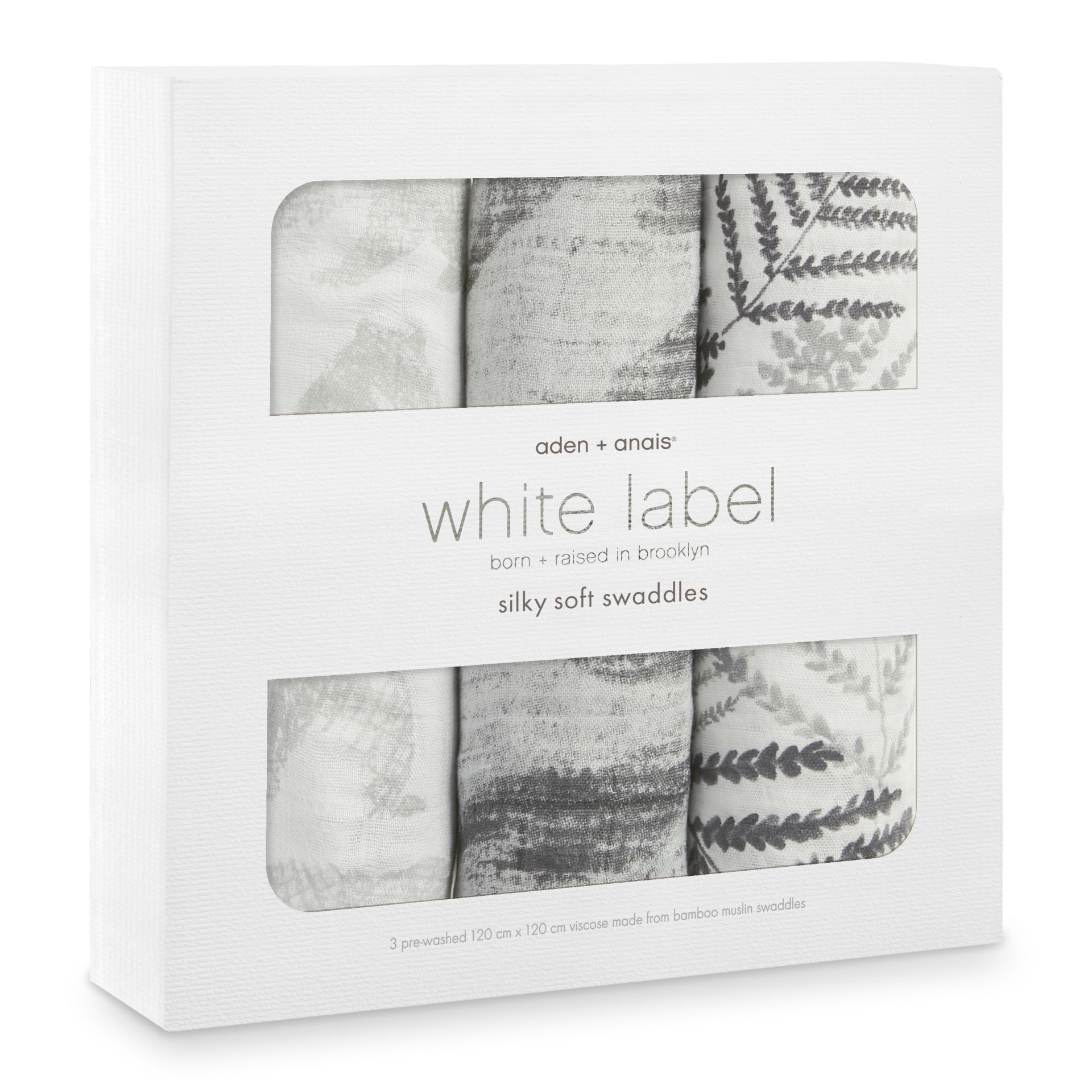 aden+anais White Label Silky Soft Swaddles, Pack of 3 2018 foragers ...