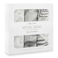 aden+anais White Label Silky Soft Swaddles, Pack of 3 -  * White Label – born and raised in Brooklyn. The new White Label range will delight all modern and trendy parents with a thing for special designs.