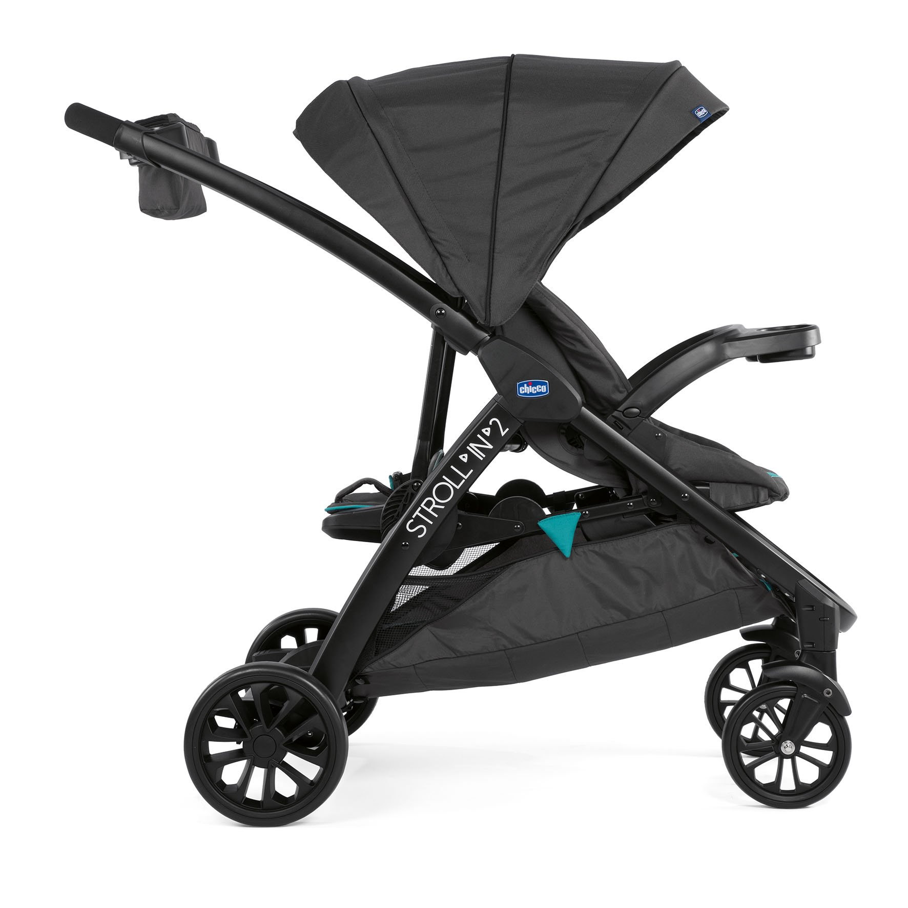 how to open peg perego double stroller