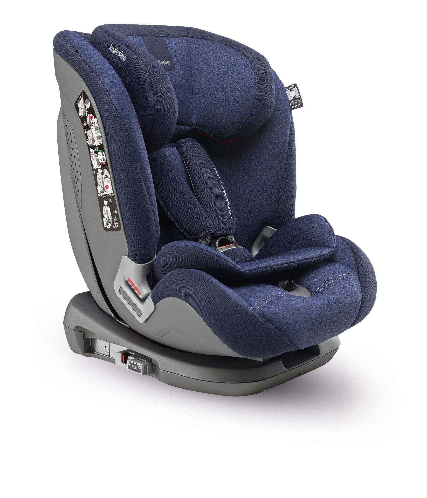 inglesina kindersitz newton 1 2 3 ifix 2018 marine buy at kidsroom car seats. Black Bedroom Furniture Sets. Home Design Ideas