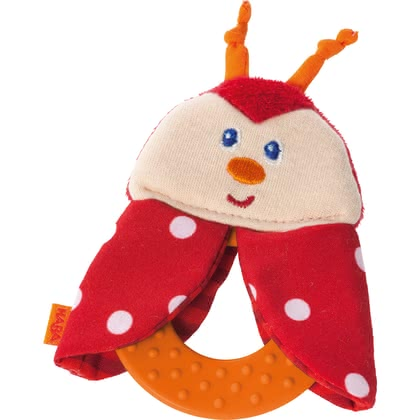 HABA Clutching Toy Chomp Champs -  * Haba's beautifully designed chomp champ is going to be your little one's first best friend. The flat ring as well as the soft animal face are super easy to be grasped and held by small hands.