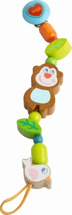 Haba Soother Chain Lino Lemur -  * The soother chain Lino Lemur by Haba comes with a practical clip whit which you can keep your little one's soother easy to reach at all times.