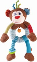 Haba Clutching Figure Lino Lemur -  * Haba's clutching figure Lino Lemur takes your child on an exciting adventure. Bright colours as well as various shapes and sounds stimulate and train all of your little one's senses.