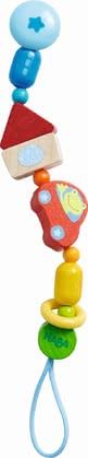 Haba Soother Chain Whimsy City -  * The soother chain Whimsy City comes with a practical clip which helps to keep your child's soother easy to reach.