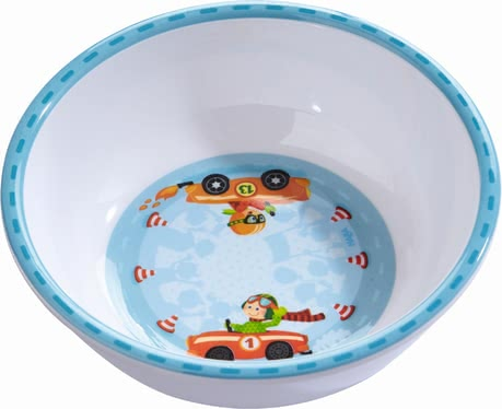 Haba Zippy Cars Bowl -  * Haba's Zippy Cars bowl that comes in a fancy race driver design will add some oomph to your little one's start into the new day.