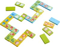 Haba Dominoes Wonder in the Woods -  * Dominoes is one the first boardgames for children. The rules of this game are simple so that small children at the age of 2 years and up can understand them easily.