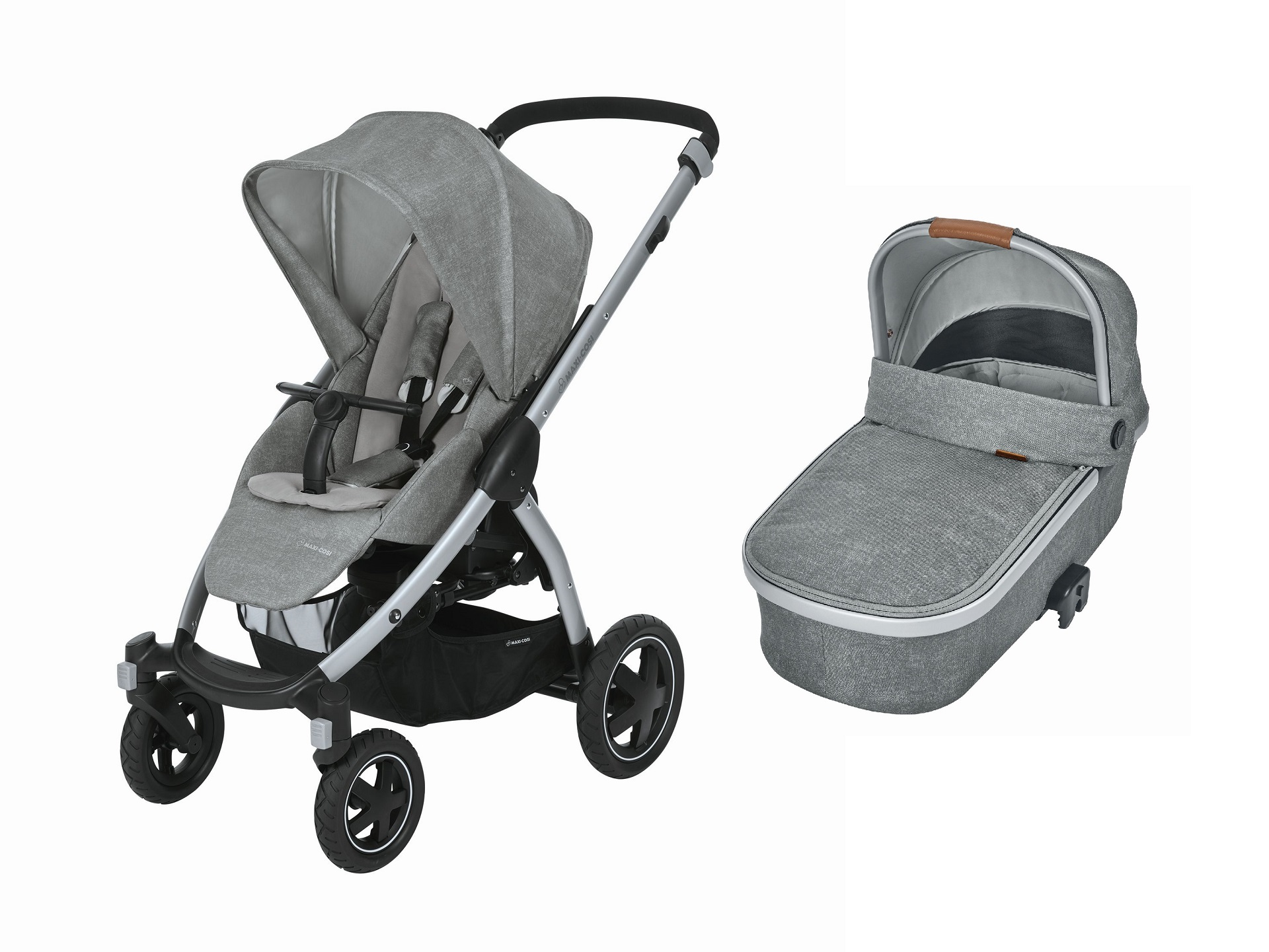maxi cosi stroller stella including carrycot oria 2018 nomad grey buy at kidsroom strollers. Black Bedroom Furniture Sets. Home Design Ideas