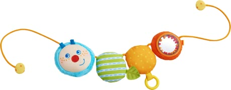 Haba Caterpillar Mina Pram Decoration -  * Haba's Caterpillar Mina pram decoration is a versatile and multiply-coloured toy that brings diversion and entertainment for at home or on the go.