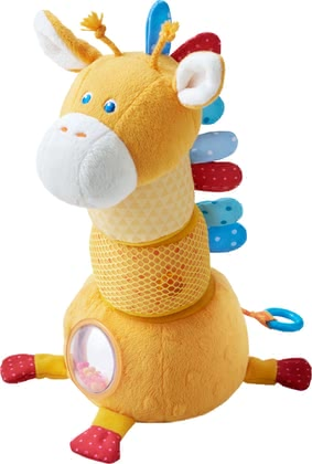 "Haba Stacking Figure ""Giraffe Spotty"" -  * Haba's cheerful stacking figure Spotty the giraffe features many exciting effects. Each piece hides a great surprise and can be stacked on top of another so that Spotty looks different every time your child plays with it."