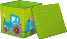 "Haba Cube Seat ""Tractor"" -  * Haba's cube seat which comes in an adorable tractor design is a practical seat that supplies your child with space to store toys and the like."