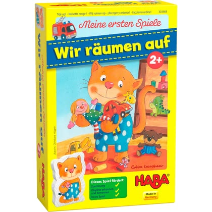"Haba My First Games – ""Let's tidy up!"" -  * Haba enchant and delight even the smallest and youngest among us with their fantastic games. ""Let's tidy up!"" is suitable for children at the age of two years and up."